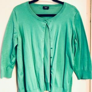 Talbots kelly green cardigan